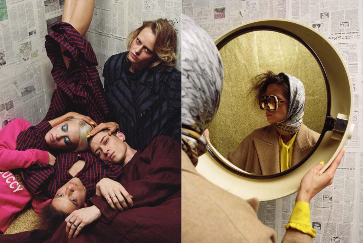 styled by Arthur Mayadoux with Gucci / Victoria/Tomas / Christian Dada / Acne Studios / Sabina Savage / Maison Margiela / Y's