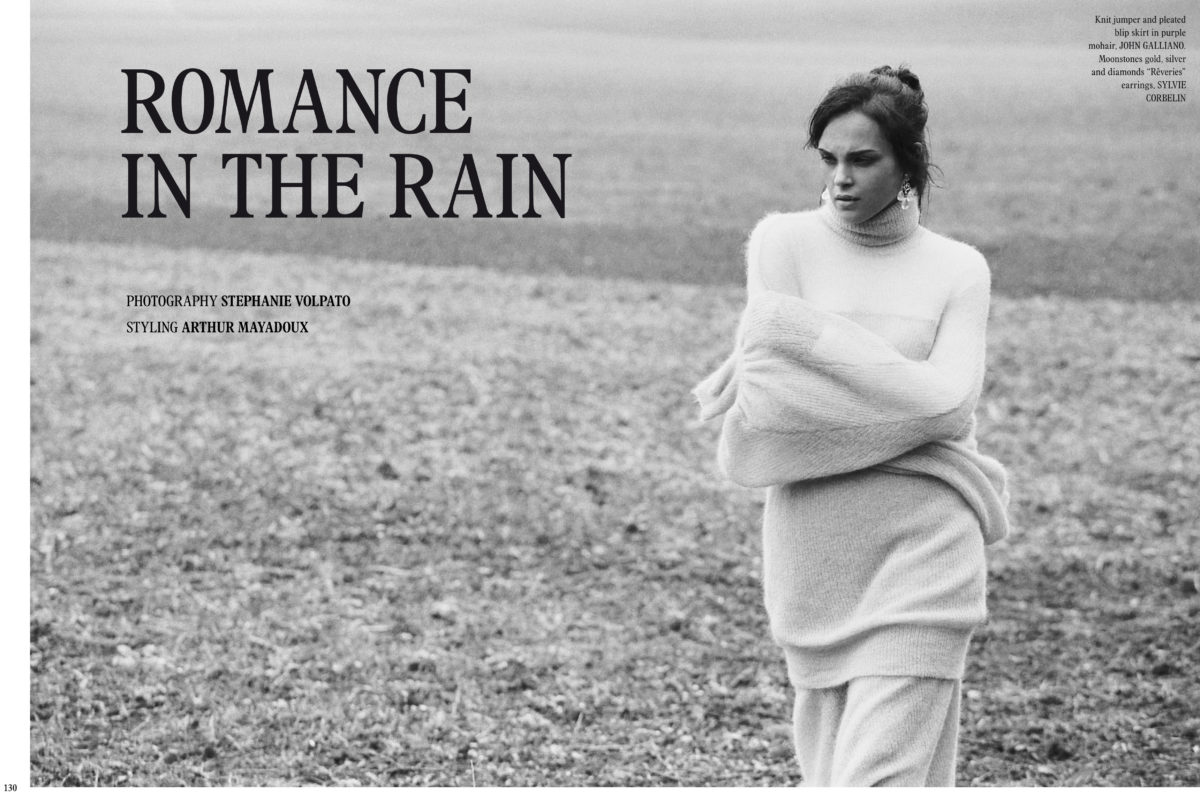 Styled by Arthur Mayadoux with John Galliano & Sylvie Corbelin / Make up Maniasha / Hair Mathieu Laudrel