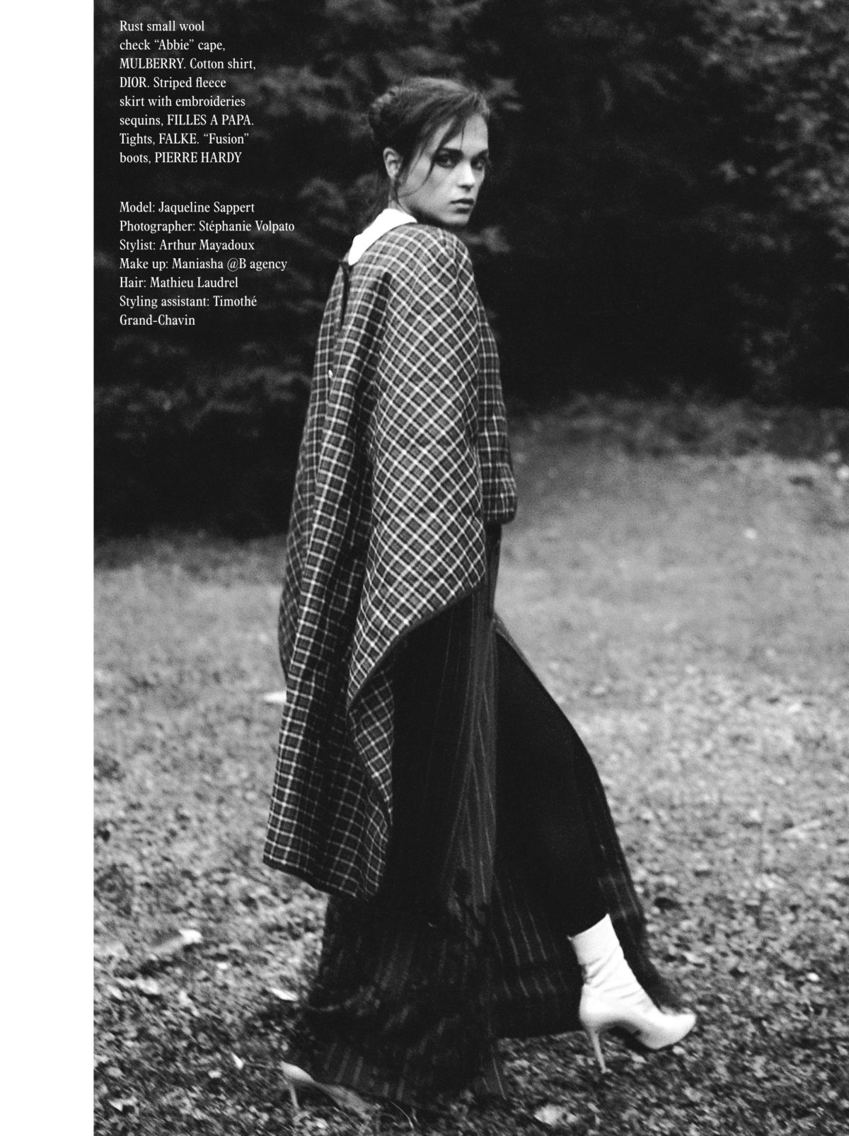 Styled by Arthur Mayadoux with Dior, Mulberry, Filles à Papa, Falke, Pierre Hardy / Make up Maniasha / Hair Mathieu Laudrel