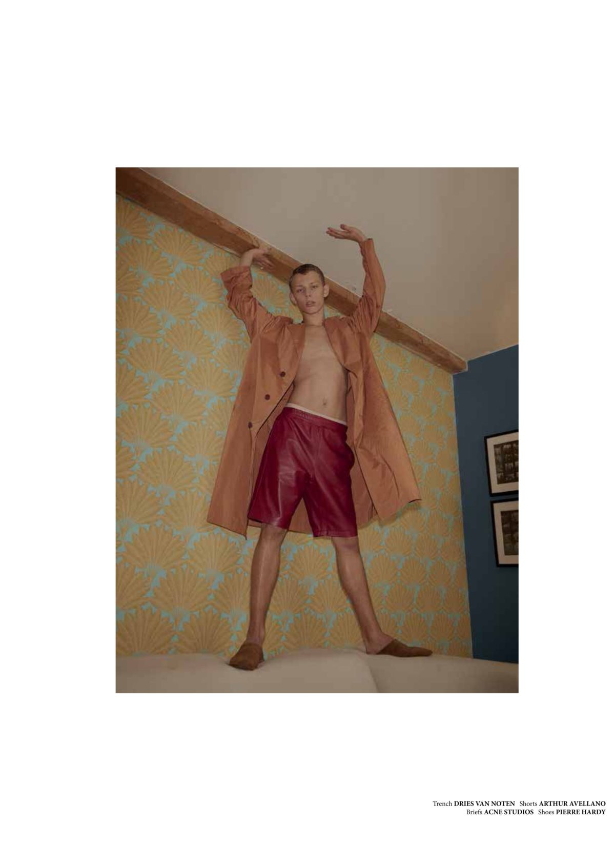NR Magazine shot by Niklas Bergstrand & Mateja Duljak styled by Arthur Mayadoux with Dries van Noten, Arthur Avellano, Acne studios & Pierre Hardy