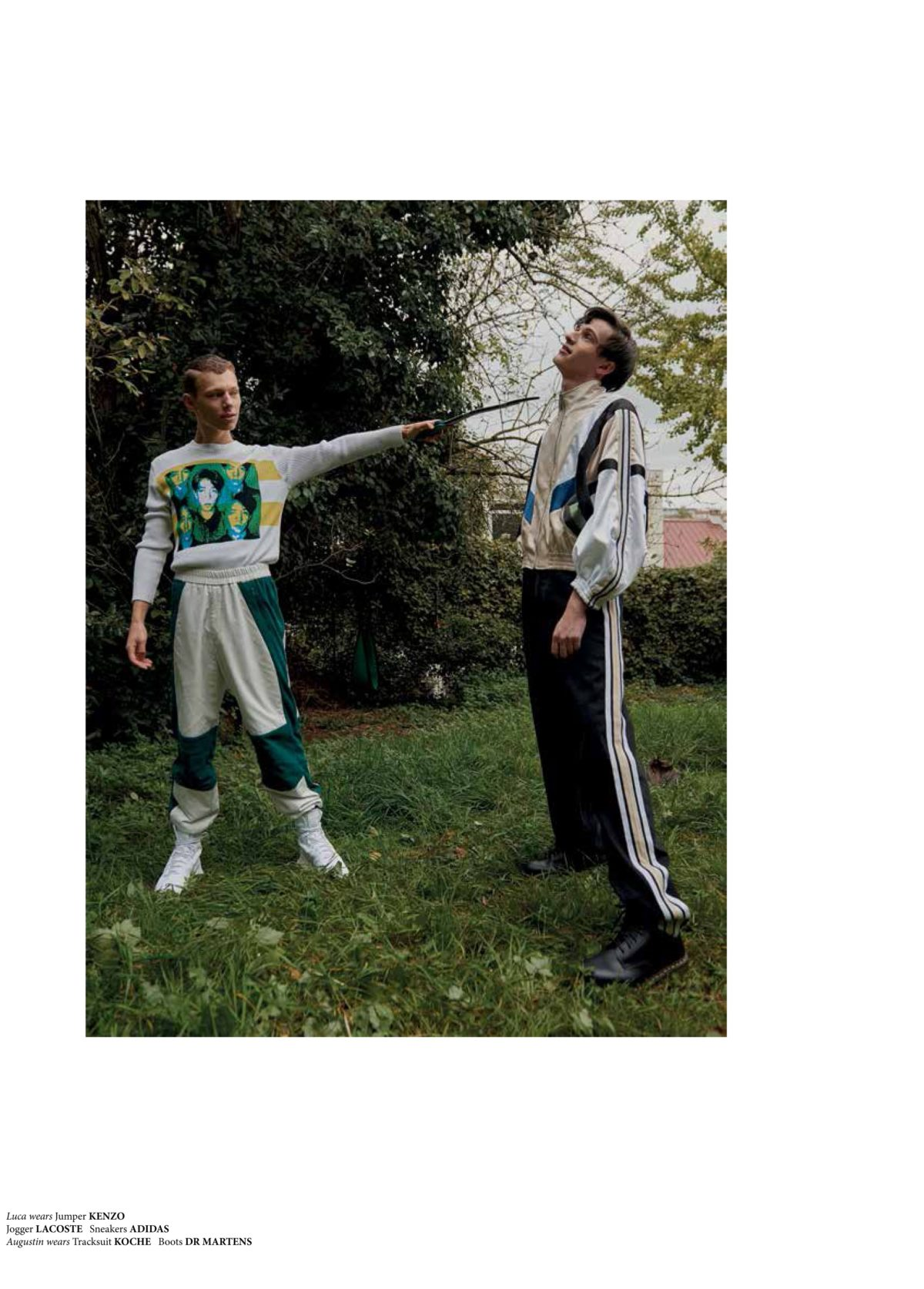NR Magazine shot by Niklas Bergstrand & Mateja Duljak styled by Arthur Mayadoux with Kenzo, Lacoste, Adidas, Koche & Dr Martens