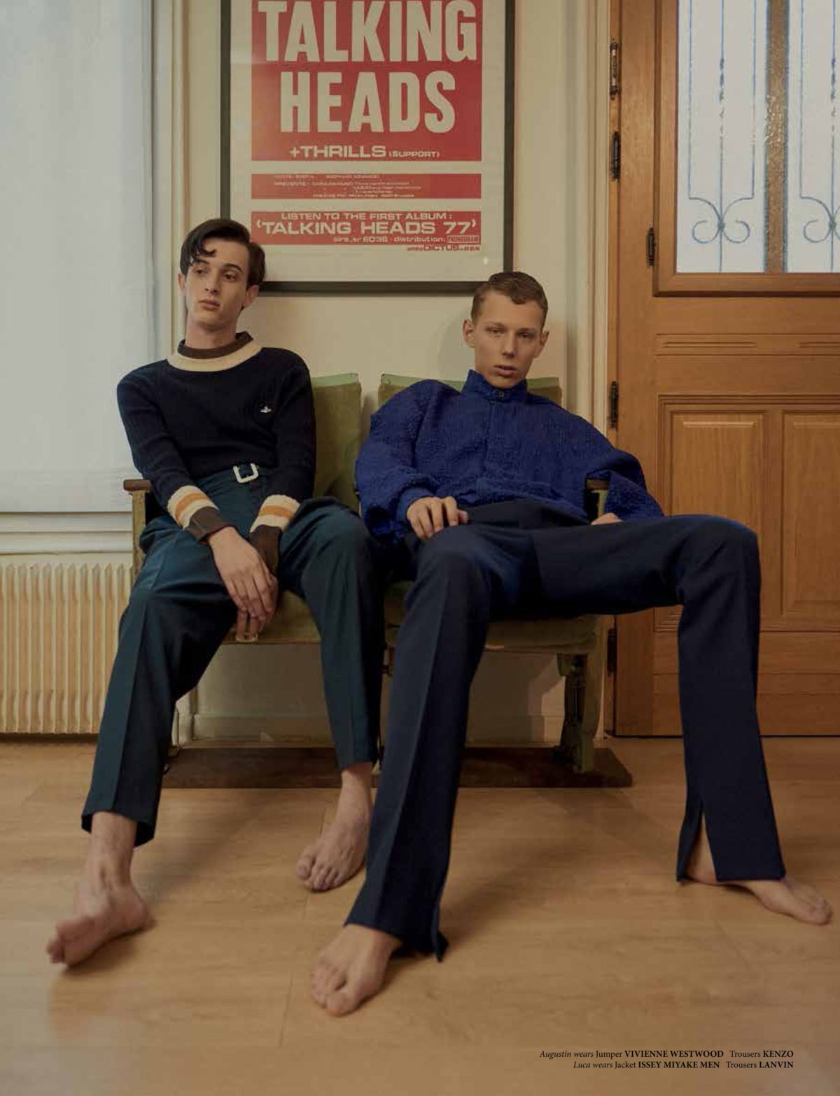 NR Magazine shot by Niklas Bergstrand & Mateja Duljak styled by Arthur Mayadoux with Vivienne Westwood, Kenzo, Issey Miyakey Men & Lanvin
