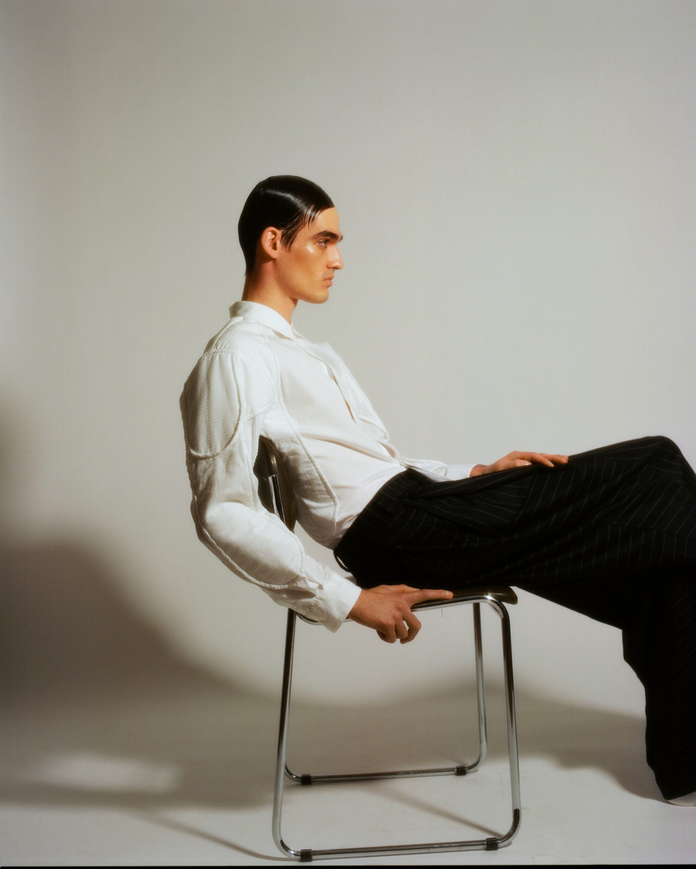 Men at work (c) Celine Bishoff Arthur Mayadoux styled with Comme des Garçons Shirt Sadak