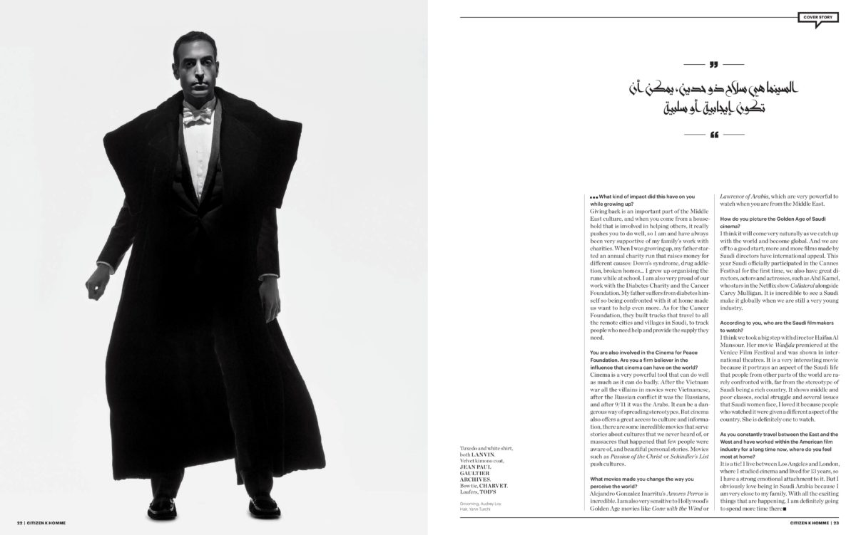 Mohammed Al Turki shot by Robert Jaso styled by Arthur Mayadoux with Dior, Charvet, Jean Paul Gaultier Archives