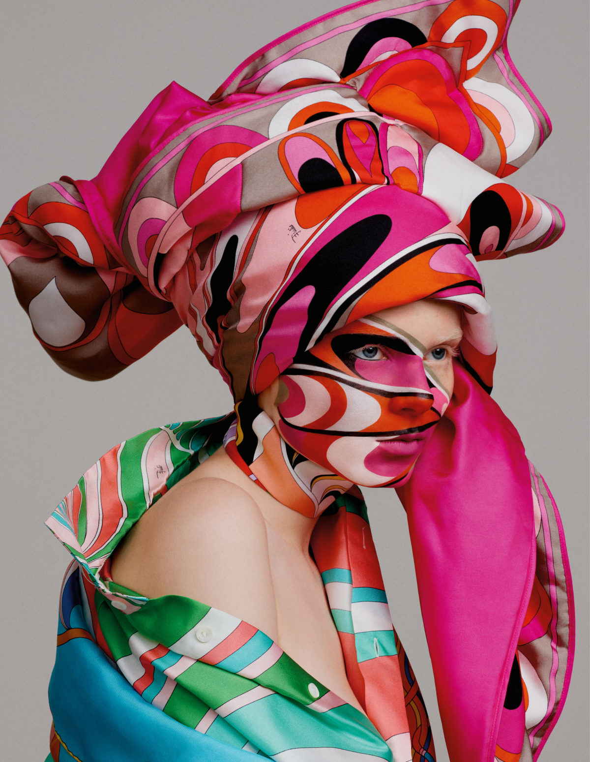 Scarfs styled by Arthur Mayadoux with Pucci shot by Armin Morbach