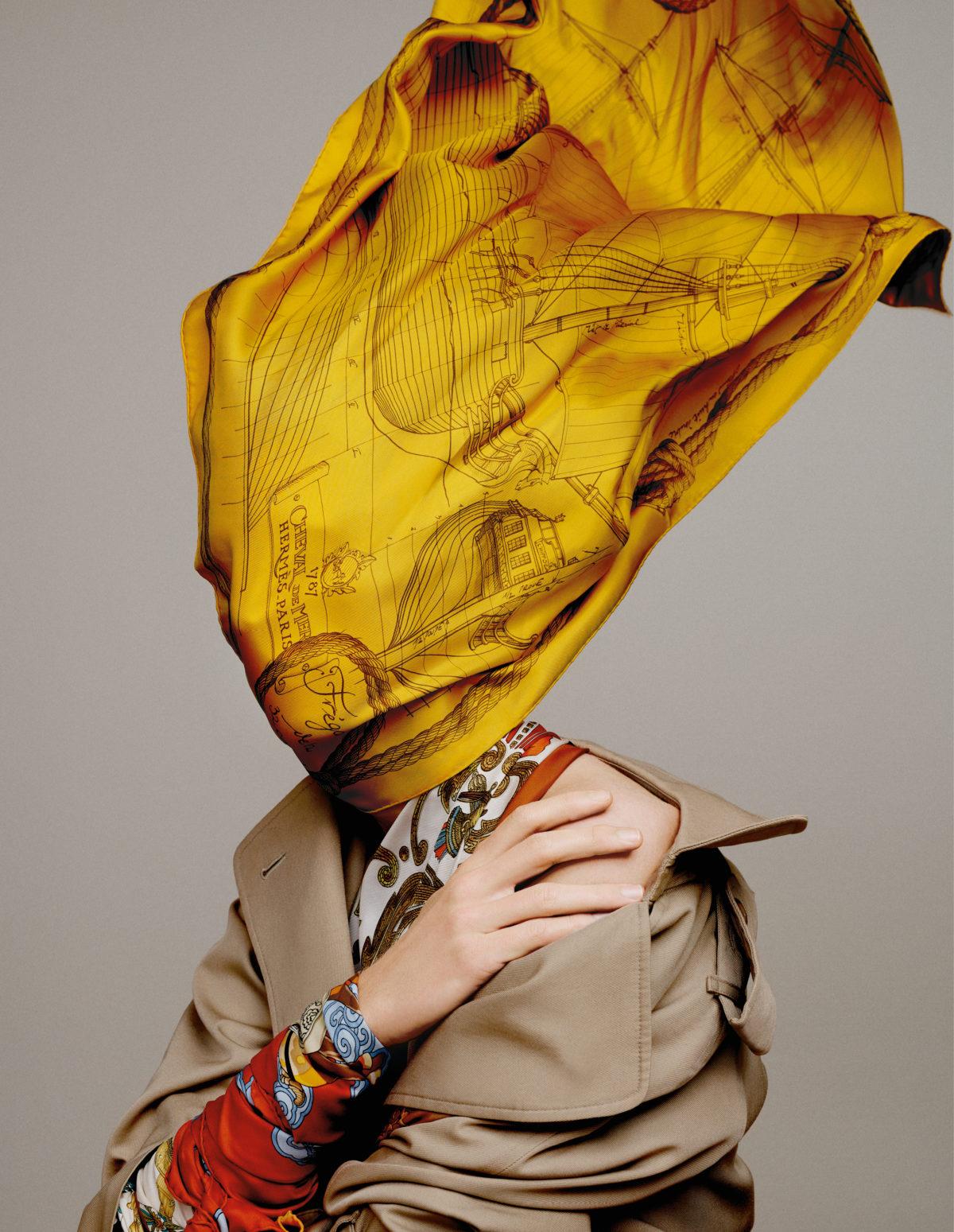 Scarfs styled by Arthur Mayadoux with Hermès vintage shot by Armin Morbach